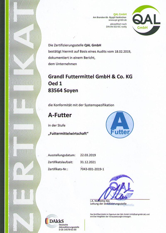 Grandl Futtermittel A-Futter-12-2021
